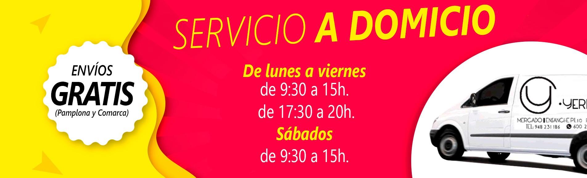 Servicio a domicilio gratuito en Pamplona